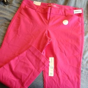 Hot pink pixie ankle length pants